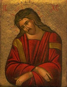 Icon of Christ led to the Passion.