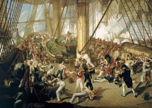 Denis-Dighton-xx-The-Fall-of-Nelson-Battle-of-Trafalgar-21-October-1805