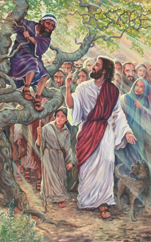 zacchaeus painting