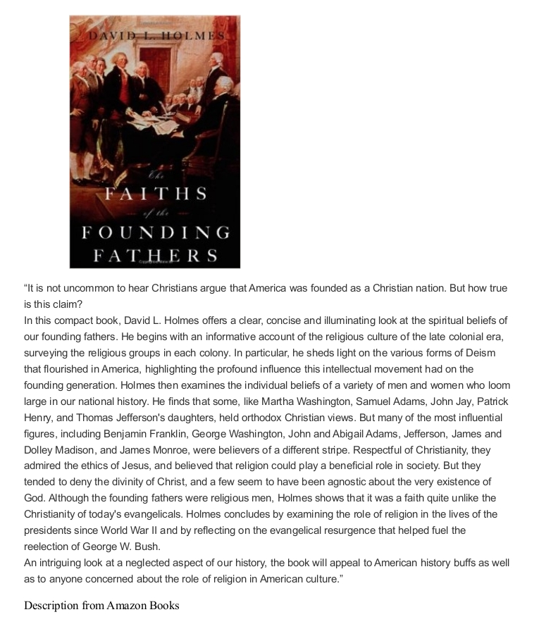 was america founded as a christian nation essay This essay is revealing, and it confirms much of what i have written about since the 2011 release of my was american founded as a christian nation: a historical introduction but it does not.