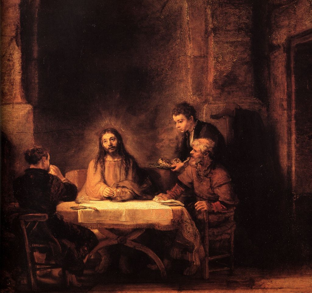 Emmaus-Road-Jesus-with-Disciples-Rembrandt