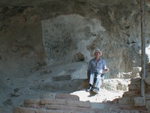 In the hermit cave of Saint Isaac the Syrian, Bishop of Spoleto