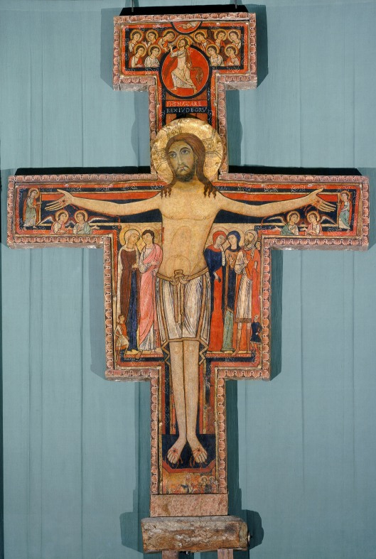 Kreuz von San DamianoBasilika Santa Chiara Assisi, Italien