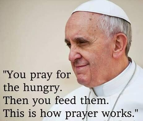 popefrancis pray for the hungry