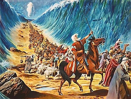 israelte crossing the red sea